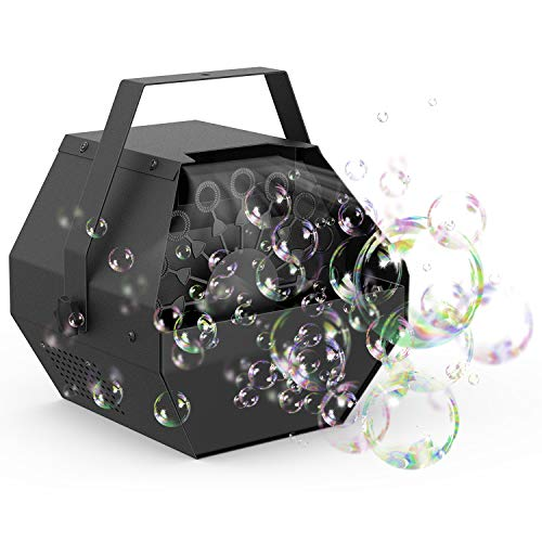 Fansteck Mini Seifenblasen Maschine, Seifenblasen für Hochzeit, Starker Ausstoß, Tragbare Seifenblasenmaschine für Kinder und Erwachsene
