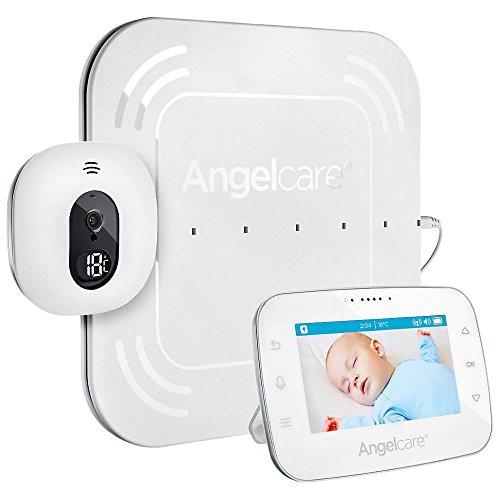 Angelcare A0315-DE0-A1001 Babyphone mit Video-und Bewegungsüberwachung AC315-D / 4.3' Display/Sensormatte kabelgebunden, weiß