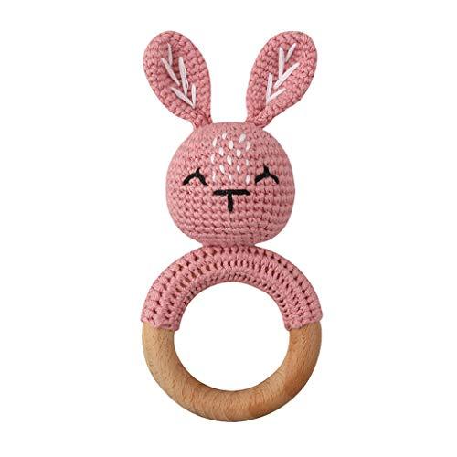 YOURPAI Baby Buche Holz Beißring Mobile Kinderwagen Krippe Ring DIY Häkeln Rassel Armband Molar 12