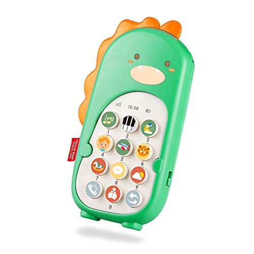 Yojoloin Kinder Handy Baby Fernbedienung,Dinosaurier Baby Spielzeug ab 6 Monate,Musik Sound Spielzeug Lernspielzeug Lernhandy mit 70 Sounds mit Lautstärkeregler for Kinder