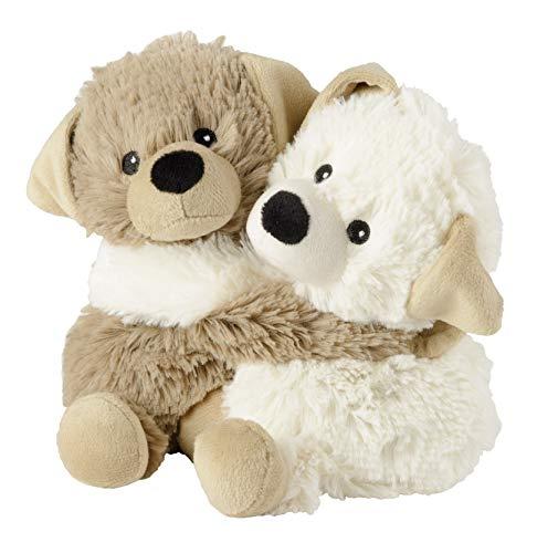 Warmies® Wärmekissen/Stofftier'Kuschelfreunde Hunde 2er Set' Hirse Lavendelfüllung