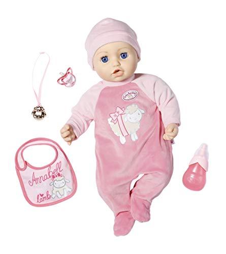Zapf Creation 702475 Baby Annabell Puppe Annabell mit lebensechten Funktionen und Zubehör 43 cm, rosa, Online Verpackung