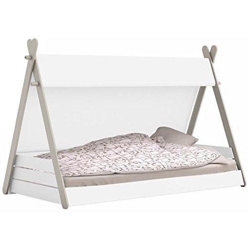 habeig Kinderbett Tipi mit Lattenrost 90x200cm Jugendbett Bett Indianerzelt 200x90 Zelt
