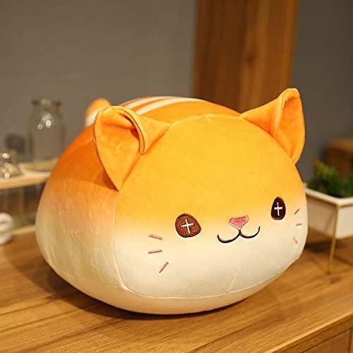 MEKTSA 30-40cm New Fat Bread Katze Plüschtiere Stofftier Puppe Kissen Schlafsofa Kissen Schöne Mädchen Kinder Geburtstagsgeschenk 40cm Braun