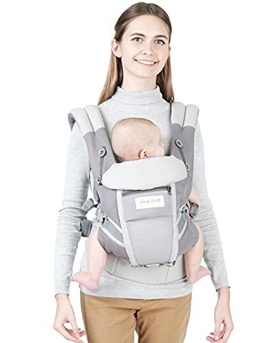 Babytrage für Neugeborene ab Geburt - bequeme Baby Trage aus hochwertiger Baumwolle mit flexiblem Tragesystem für Frauen & Männer