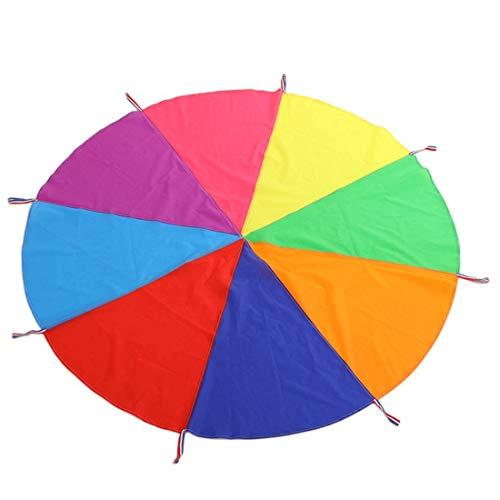 Boosns Schwungtuch Fallschirm Spielzeug Bunt Fallschirm Parachutes Spielzeug ideale Aktivität in Innenräumen für Kinder (6-12 Kinder)