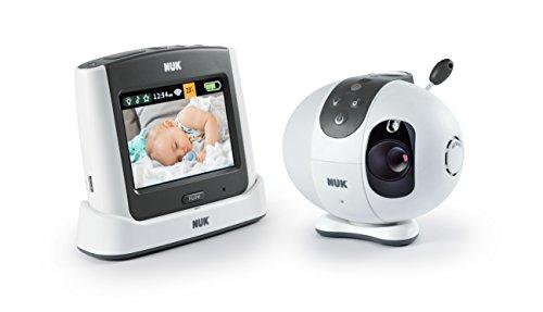 NUK Eco Control+ Video Max 410, Babyphone mit Kamera, Sternenprojektion, frei von hochfrequenter Strahlung im Eco-Mode, Max 100m Reichweite