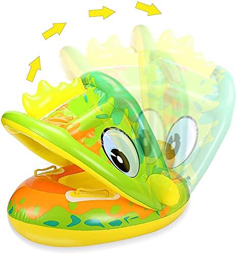 Baby Schwimmring,Aufblasbarer Schwimmreifen,Baby Schwimmring mit Sonnenschutz,Baby Float,Aufblasbarera Byschwimmen,Baby Schwimmtrainer,Schwimmhilfe Spielzeug,Schwimmring Aufblasbarer