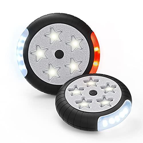 Amteker Kinderwagen Licht, 12 LED Pro Licht 2 Leuchteffekte, Sehen und Gesehen Werden mit dem Kinderwagen, Passend für Alle Kinderwagen, Kinderwagen Zubehör (2 Stück)