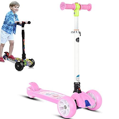 DODOBD Kinderroller 3 Räder Faltbar Kinderscooter für ab 3-14 Jahre Jungen Mädchen mit 3 PU Räders,Verstellbare Lenker und Maximale 50 KG,Graffiti Dreiradscooter Kleinkind Scooter