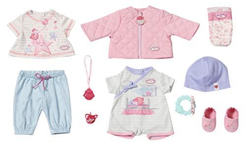 Zapf Creation 703267 Baby Annabell Kombi Set Puppenkleidung 43 cm, 12-teiliges Set bestehend aus Puppen Jacke, Shirt, Hose, Schuhen und Zubehör