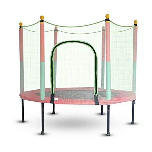 Kindertrampolin Trampolin mit Sicherheitsnetz Ø 140cm 200kg Outdoor Hüpfmatratze Gartentrampolin für Kinder Erwachesene