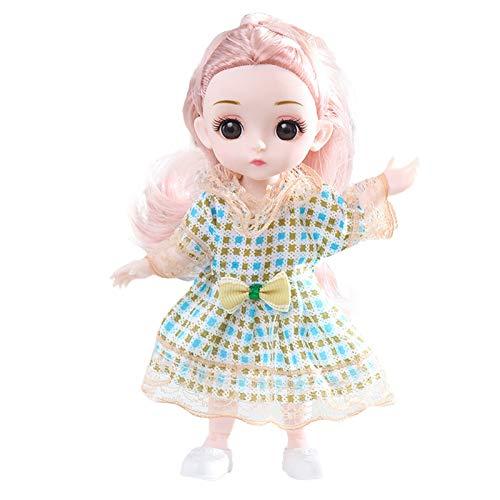 Puppen Dress up Puppe Gift Princess Girl Children's Toy Fashion Doll, Netter Kleiner Rock Geburtstagsspielzeug Geschenk Kindertagsgeschenk (A)