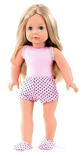 Götz 1490365 Precious Day Girls Jessica Girl to Dress Puppe - 46 cm große Stehpuppe, Blonde Lange Haare, Blaue Schlafaugen - 4-teiliges Set