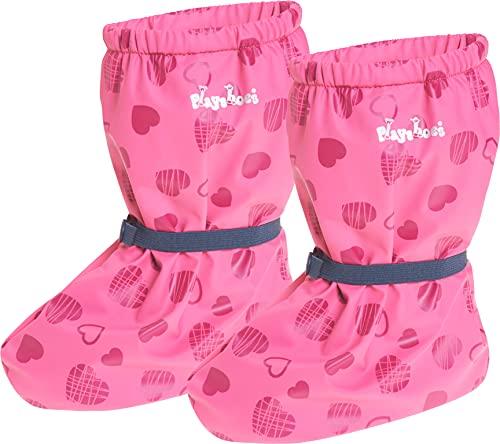 Playshoes Baby , leichte Fleece Krabbel-Schuhe für Jungen und Mädchen, mit Herzchen-Motiv, Pink (Pink 18), S