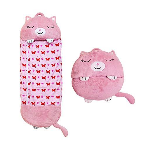 AJIC Sucastle Kinder Schlafsack Einhorn Tier Cartoon Happy Warm Baby Schlafsack Ultra-Soft Einhorn Decke für Nappers Kids Gift (Color : Pink)