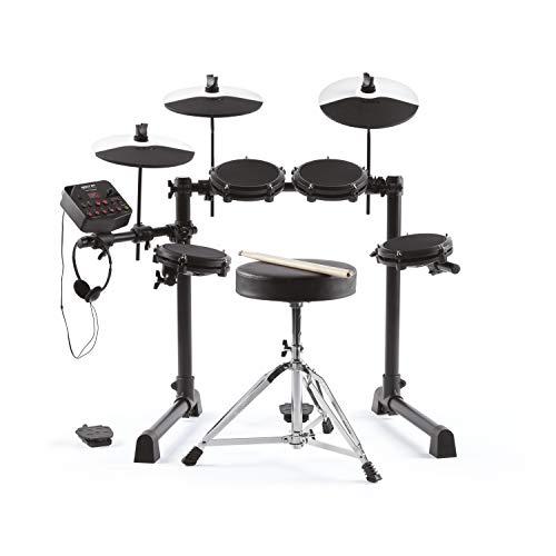 Alesis Debut Kit – Kinder Drum Kit mit 4 Mesh E-Drum Set Pads, 120 Sounds, 60 Lektionen, Schlagzeughocker, Drum Sticks, Stimmschlüssel und Kopfhörern