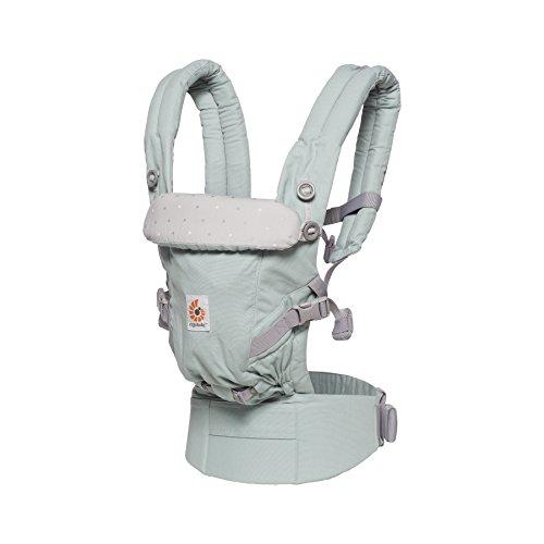 Ergobaby Adapt Babytrage für Neugeborene bis Kleinkind, Adapt 3-Positionen Tragesystem, Baby-Tragetasche und Kinder-Trage, Frosted Mint