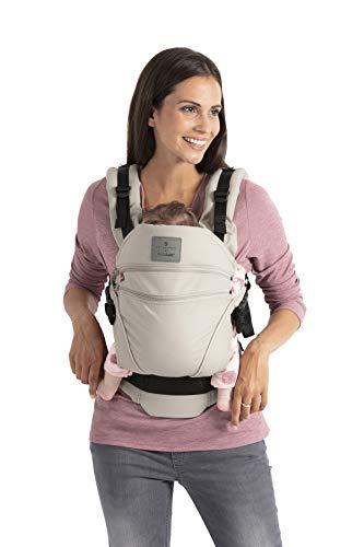 bellybutton by manduca XT/SoftCheck Sand 2019 / Babytrage mit verstellbarem Steg & Rückenverlängerung, One Size, Biobaumwolle, für Babys und Kleinkinder von 3,5 bis 20kg (beige mit Karomuster)