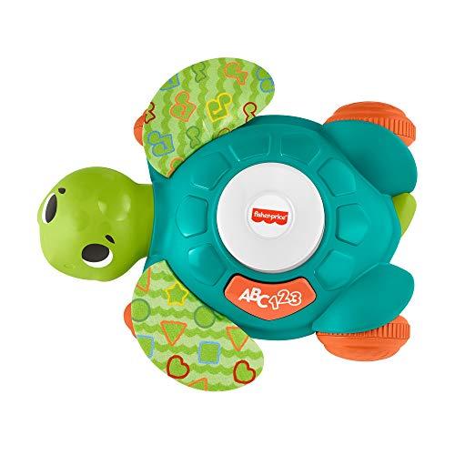 Fisher-Price GXK35 - BlinkiLinkis Meeresschildkröte Krabbel- und Lernspielzeug, deutsche Sprachversion, Schildkröte Spielzeug für Babys