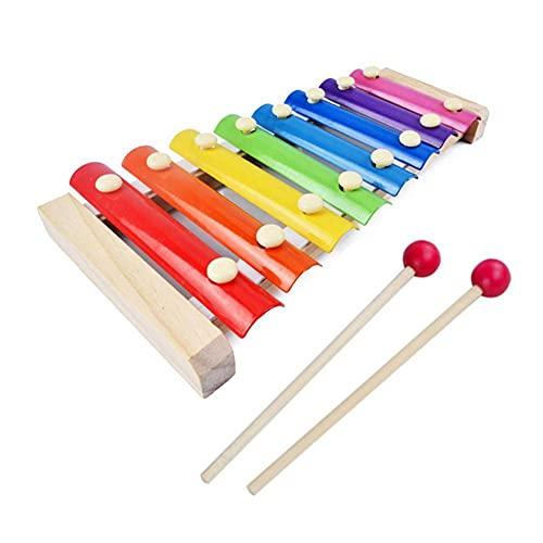 N.B Xylophon aus Holz für Kinder zum Lernen und Erziehen; Musik-Spielzeug für Kinder, Xylophon, Weisheit, 8 Noten, Musikinstrument