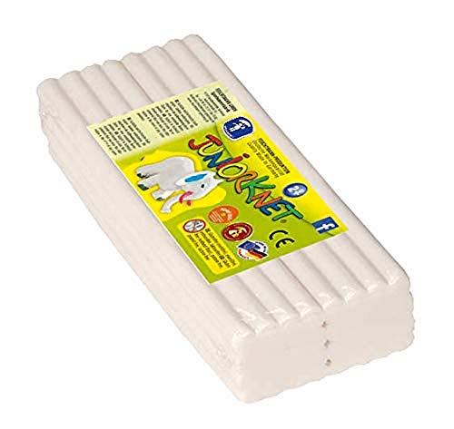 Feuchtmann 628.0305-1 - JUNiORKNET Jumbo Pack, 32 Stangen, geschmeidige Knete 2+, ca. 500 g, weiß, ideales Geschenk für kreatives Spielen