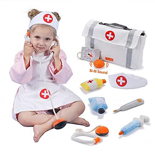 tumama Kinder Arztkoffer Spielzeug,Arzttasche Kinder,Rollenspiel Spielzeug Doktorkoffer für Kinder,Arzt Medizinisches Spielset Spielzeug Kinder,Kostüm Set Kinder Geschenke für Mädchen Junge ab 3 Jahre