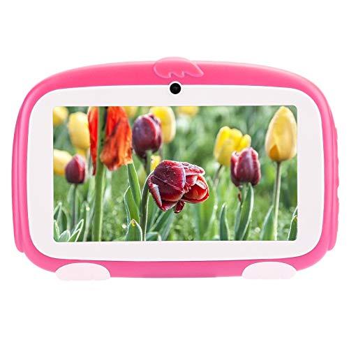 Kinder-Tablet, 7-Zoll-HD-Bildschirm, 1 GB + 16 GB-Tablet, Anti-Fall-Gehäuse für Elektronisches Lesen mit TFT-Bildschirmlernen für Android 9.0, Kompatibel mit USB_L-Netzwerkkarte(EU)
