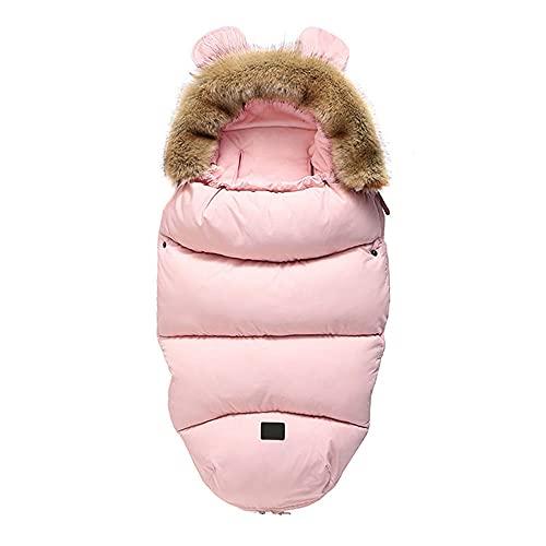 Baby-Kinderwagen-Schlafsack mit Wimpelkette, universal, winddicht, rutschfest, für den Winter, warmer Fußsack für 0–36 Monate, gegen Tritte und Stöße