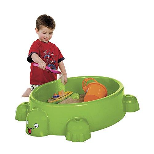 Paradiso Toys 743 – Outdoor – Sandkasten Schildkröte + Deckel,grün