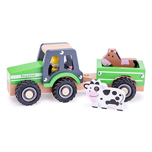 New Classic Toys - 11941 - Spielfahrzeuge - Traktor mit Anhänger