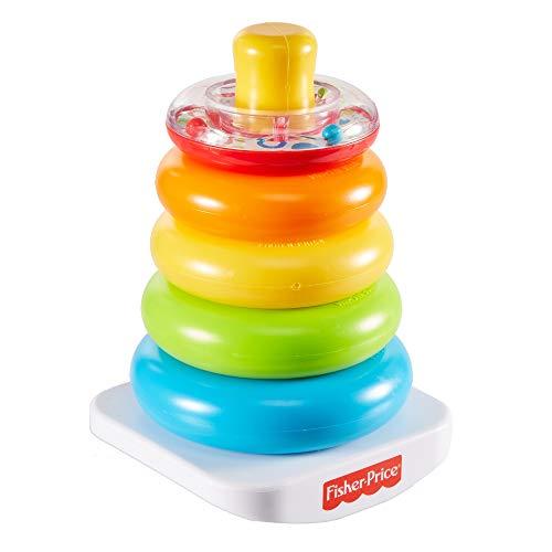 Fisher-Price GKD51 - Farbring Pyramide, klassisches Stapelspielzeug mit Ringen für Babys und Kleinkinder ab 6 Monaten