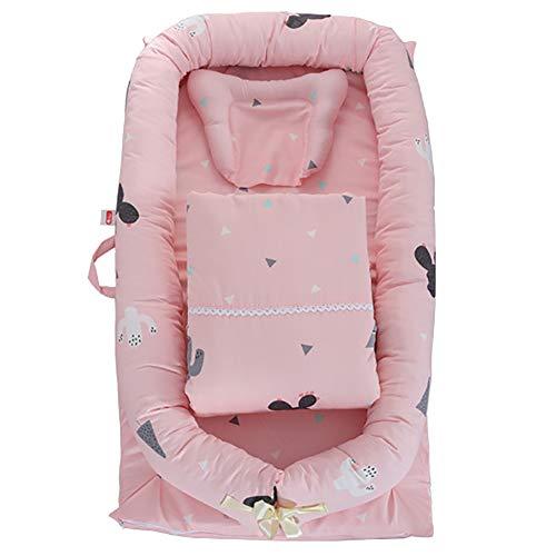 LYXCM Babynest Für Co-Schlafen, Babyliege Ultraweich Und Atmungsaktiv | Neugeborenenmatratze Für Kinderbett & Stubenwagen Perfekt Für Reisen Und Nickerchen