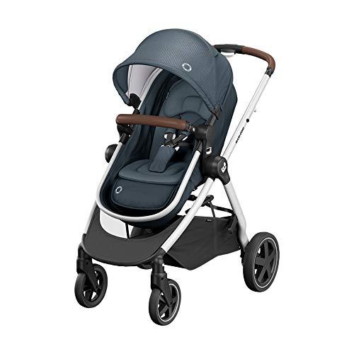 Maxi-Cosi Zelia Buggy, sehr leichter und praktischer 2-in-1 Kinderwagen, der Sitz wandelt sich in eine Babywanne, nutzbar ab der Geburt bis ca. 4 Jahre, (max. 22 kg), Essential Graphite