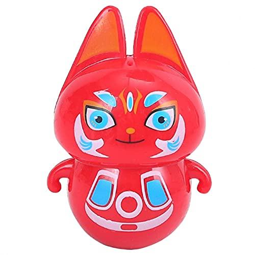 Alliwa Stehauf Schneemann Katze Panda Mini Stehauffigur Stehaufpuppe Tumbler Spielzeug Stehaufmännchen Stehauf Spielzeug für Kinder Jungen Mädchen (Stehauf Katze)
