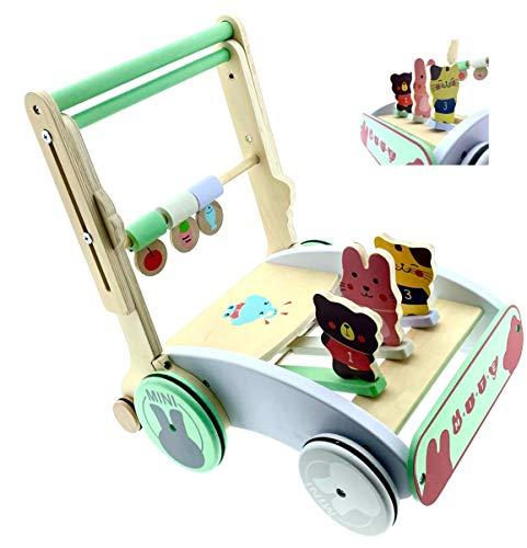 RB&G Lauflernwagen aus Holz mit Gummibereifung und Höhenverstellung