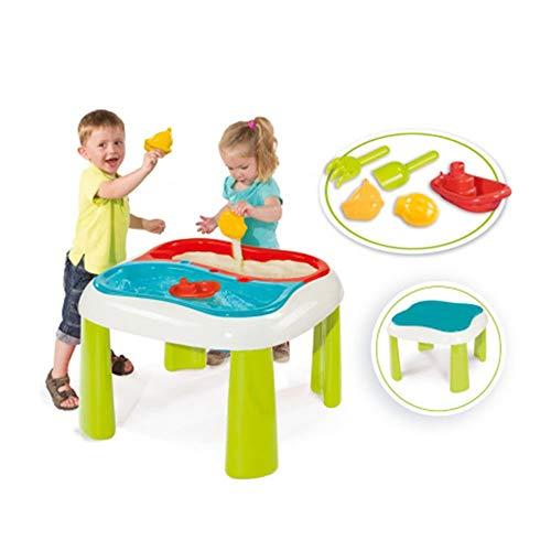 Smoby 840107 - Sand und Wasser Spieltisch - herausnehmbaren Wannen, inklusive Abdeckung, viel Zubehör, Umbau zu Spieltisch möglich, für Kinder ab 18 Monaten