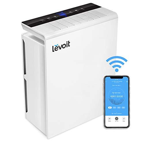 Levoit Wlan Luftreiniger, Alexa-kompatibel Air Purifier mit Sensor, H13 HEPA-&Aktivkohlefilter gegen 99,97% Allergie, CADR 230 m³/h bis zu 48㎡, 23dB Schlafmodus und Timer für Allergiker und Raucher