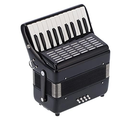 Einsteige Klavier Akkordeon 22‑Tasten 8 Bass Kinder Akkordeon Instrument Spielzeug für Jungen & Mädchen Pädagogisches Musikinstrumentenspielzeug mit Riemen Mehrere Stimmenwechsler