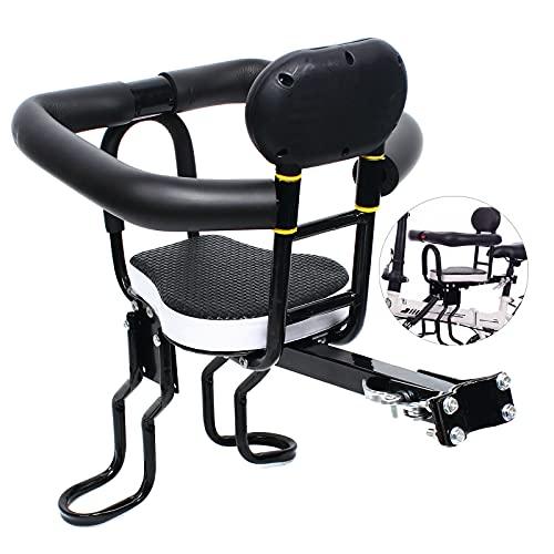 SHZICMY Kinderfahrradsitz, Kindersicherheits-Fahrradsitz vorne bis 40kg mit Sitzpedalverstellung