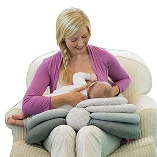WanYangg Multifunktional Anti-Spuckmilch Stillkissen, Baumwolle Stillkissen klein Stillmuff Stützkissen Verstellbares Baby Stillkissen Atmungsaktiv