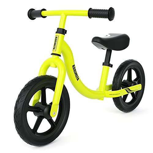 KORIMEFA Kinder Laufrad für 1-5 Jahr alt Jungen Mädchen (Grün)