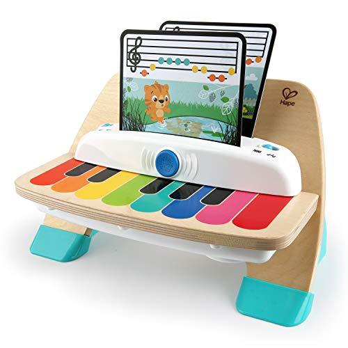 Baby Einstein Hape Magic Touch Piano Musikspielzeug Klavier aus Holz, mit 3 Notenblättern und 6 Liedern, ab 6 Monaten