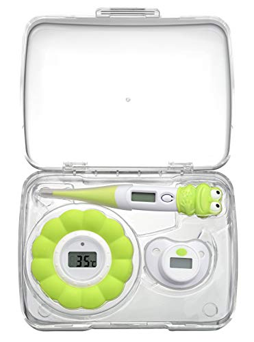 Melissa 16690070 Baby Thermometer Baby Schnuller Thermometer Badewasser Thermometer all in Box Reise Urlaub Grün