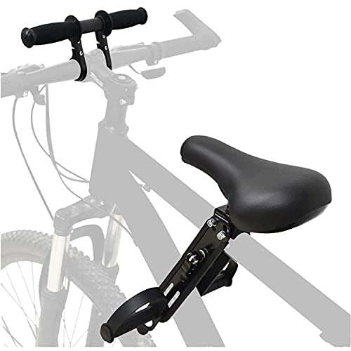 Anforee Kindersitz Fahrrad Mountainbike Vorne Kinder Fahrradsitz, Vorneliegender Kinderfahrradsitz für Mountainbikes mit Lenker von 2-5 Jahren Kompatibel mit Allen Erwachsenen MTBs (Seat+Handle)