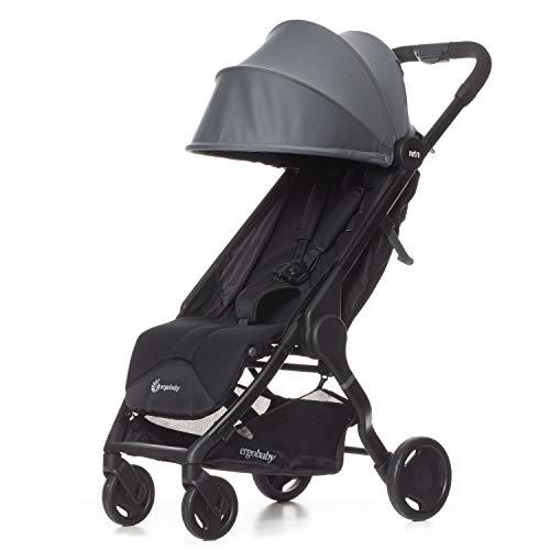 ERGObaby METRO15EU2 Metro Kinderwagen Buggy mit Liegefunktion Modell 2020, ab 6 Monate bis 22kg, Kinder-Buggy Zusammenklappbar Klein Leicht Kompakt, grau, 6.3 kg