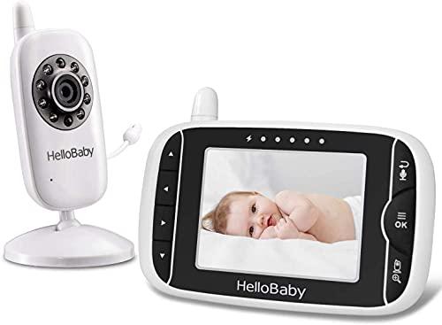 Video Babyphone mit Kamera und Audio, Halten Babys Kinderzimmer mit Nachtsicht,Rücksprache Funktion,Raumtemperatur,Schlaflieder,960ft/292,6 Meter Reichweite und lange Lebensdauer der Batterie