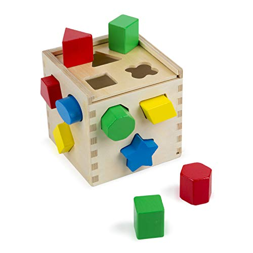 Melissa & Doug Shape Sorting Cube | Developmental Toy | Motor Skills | 2+ | Gift for Boy or Girl