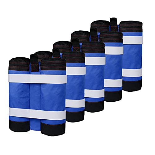 Weight Bags, Sandbag for Pop Up Canopy Tent, Sand Bags Weighted Base for Anchoring Canopy Tent Sun Shades Shelter Marquees Market Stalls Blue