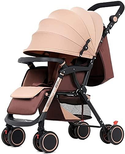 Chilechuan Tragbarer Kinderwagen, Kinderwagen-Kinderwagen Faltbarer Reisebuggy mit sicherem Fünf-Punkt-Kabelbaum und Bremse, einstellbare Rückenlehne